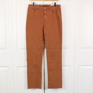 NWT Lands End Mid Rise Straight Leg Pants Size 8